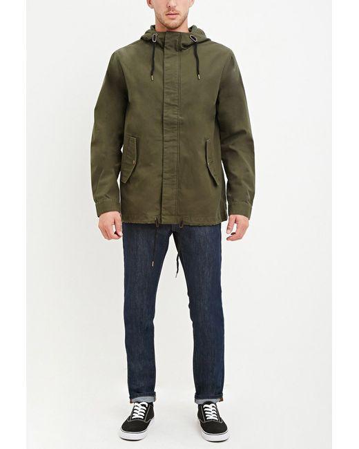 Forever 21 | Green Hooded Utility Jacket for Men | Lyst