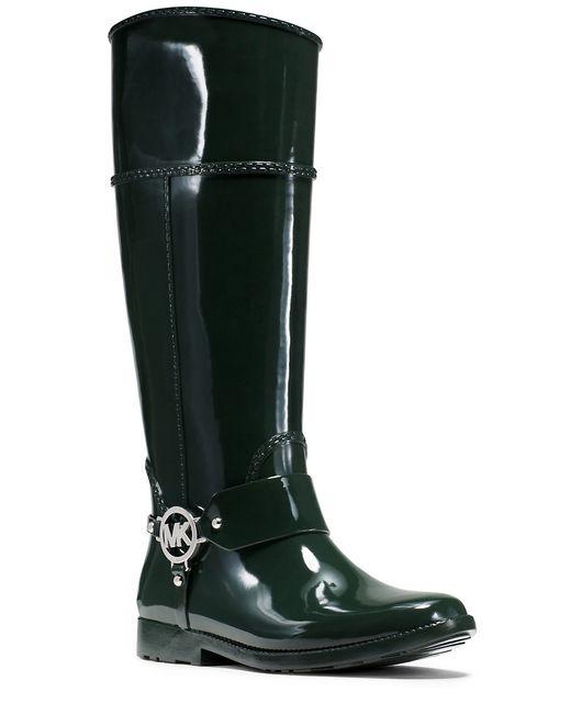 MICHAEL Michael Kors | Green Fulton Harness Rain Boots | Lyst