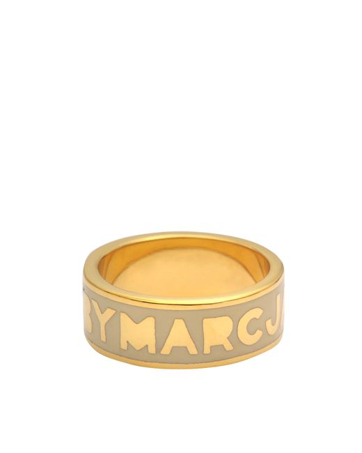 Marc By Marc Jacobs   Metallic Classic Marc Logo Ring   Lyst