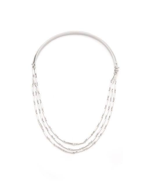 Eddie Borgo | Metallic Peaked Chain Necklace | Lyst