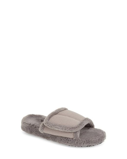Acorn | Gray Waffle Spa Slide Slippers | Lyst