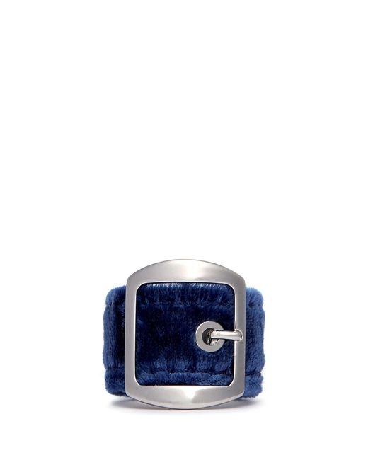 Givenchy | Blue Velvet Buckle Ring | Lyst