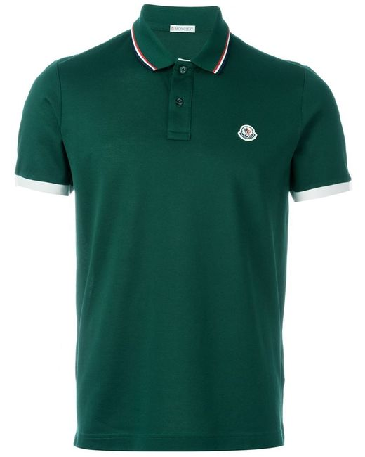 Moncler Classic Polo Shirt In Green For Men Lyst