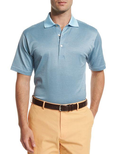 Peter millar sandman geometric print short sleeve polo for Peter millar polo shirts