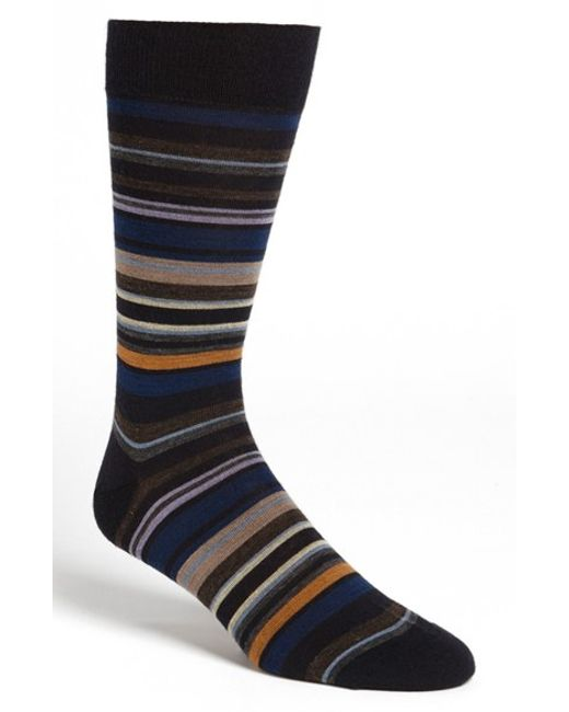 Pantherella | Blue 'quaker' Stripe Socks for Men | Lyst