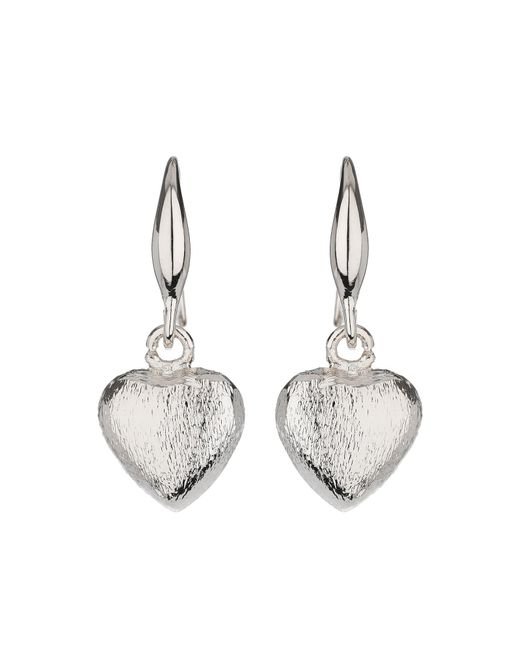 Mikey | Metallic Plain Heart Hoop Earring | Lyst