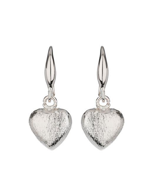 Mikey | Metallic Plain Heart Hoop Earring | Lyst