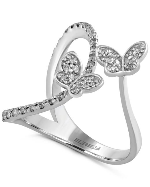 effy collection effy butterfly ring 1 3 ct t w