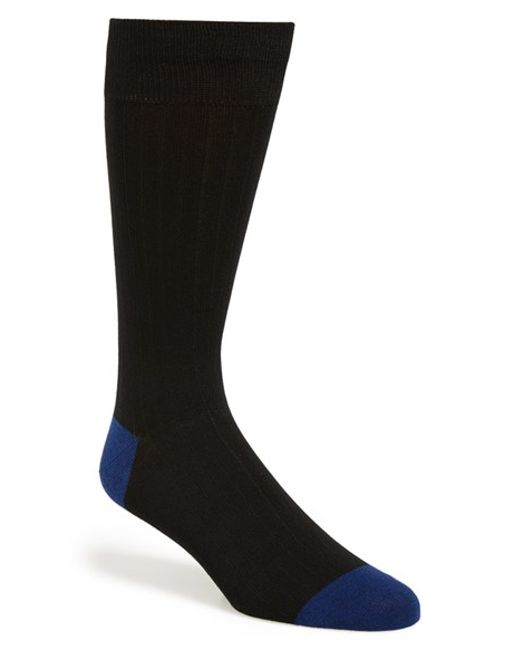 Calibrate | Black 'plated Solid Socks for Men | Lyst
