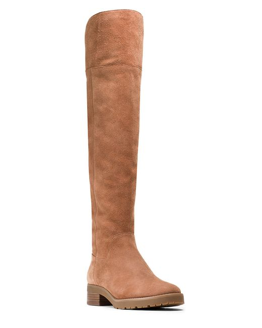 MICHAEL Michael Kors | Brown Whitaker Sherpa-lined Suede Knee-high Boots | Lyst