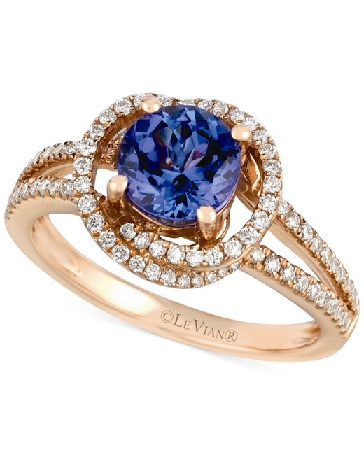 Le Vian | Pink Tanzanite (1-1/5 Ct. T.w.) And Diamond (3/8 Ct. T.w.) Ring In 14k Rose Gold | Lyst