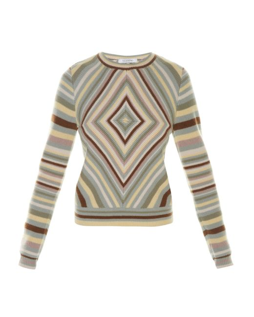 Valentino | Multicolor Native Couture 1975-print Crew-neck Sweater | Lyst