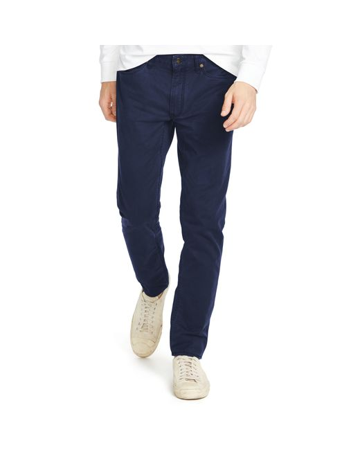 Polo Ralph Lauren | Blue Stretch Slim-fit Twill Pant for Men | Lyst