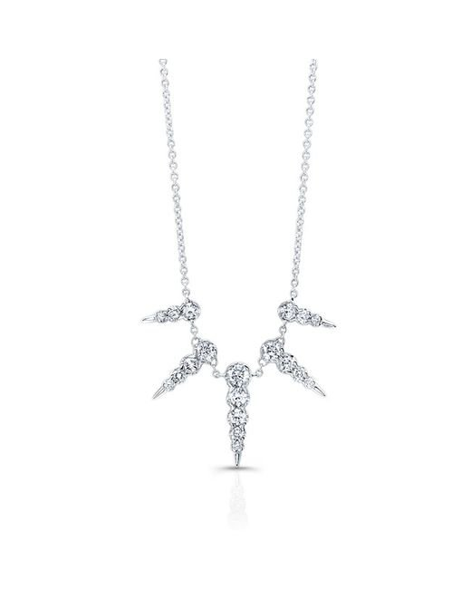 Anne Sisteron - Metallic 14kt White Gold Diamond Luxe Icicle Spike Necklace - Lyst