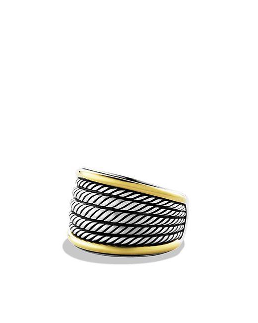 David Yurman | Metallic Wheaton Band Ring With 18k Gold | Lyst