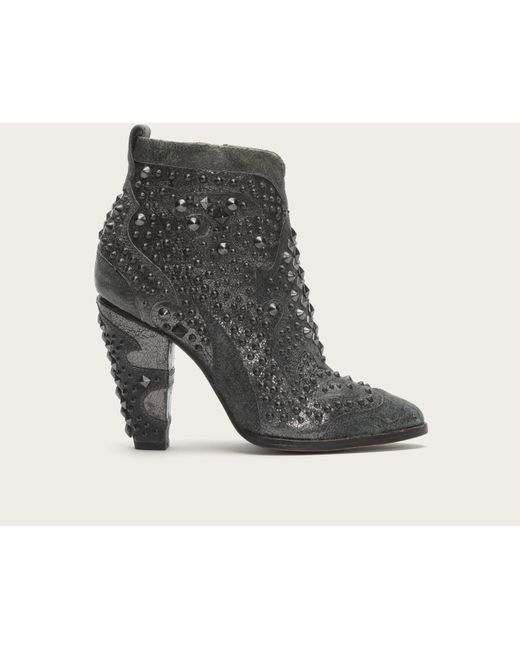 Frye | Gray Remy Studded Leather Boots | Lyst