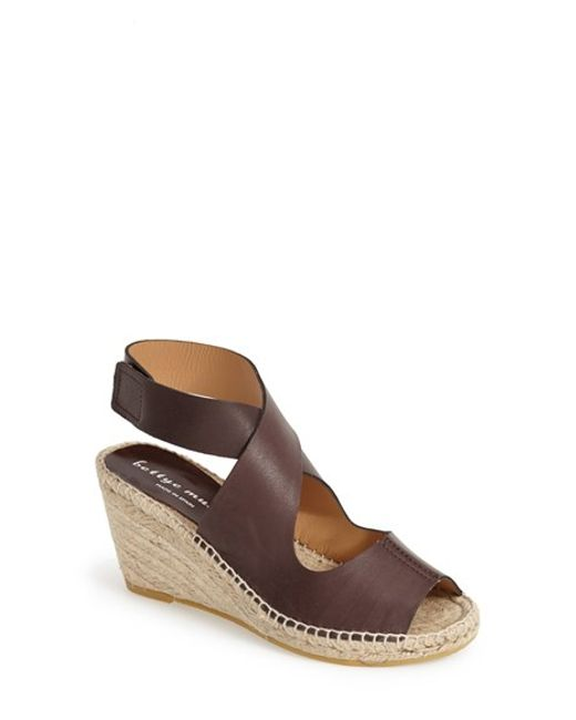 Bettye Muller | Brown 'mobile' Leather Wedge Espadrille Sandal | Lyst