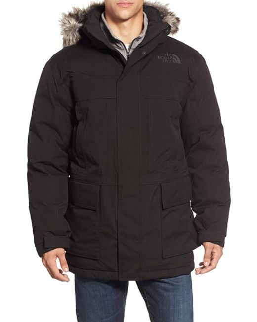 The North Face | Black 'mcmurdo Parka Ii' Waterproof Goose Down Coat With Faux Fur Trim for Men | Lyst