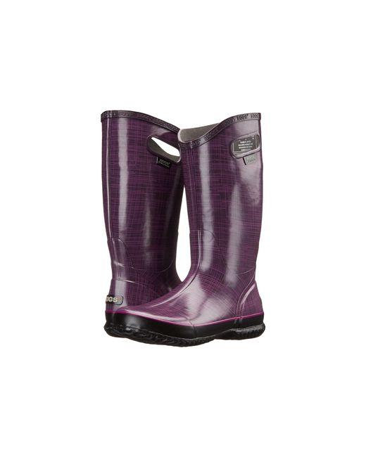 Bogs | Purple Linen Rainboot | Lyst
