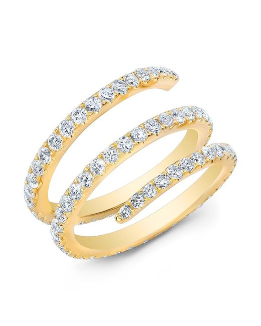 Anne Sisteron - Metallic 14kt Yellow Gold Diamond Spring Ring - Lyst