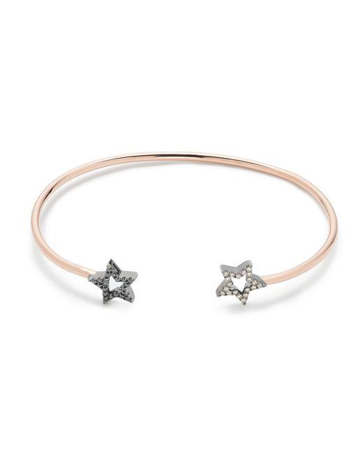 J.Crew | Metallic Rosa De La Cruz London 18k Gold And Diamond Double Star Bracelet | Lyst