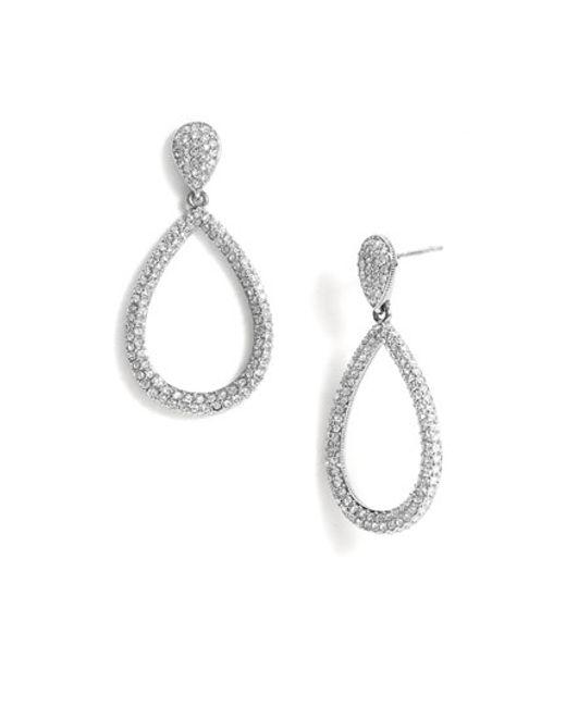 Nadri   Metallic Open Teardrop Earrings   Lyst