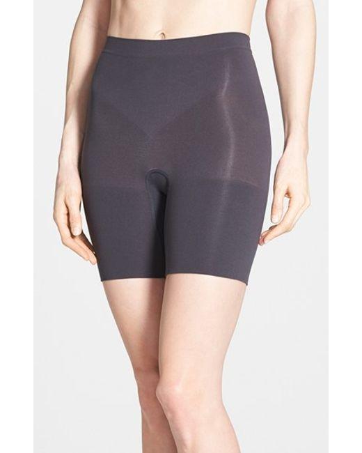 Spanx   Black Spanx 'power - Short' Mid Thigh Shaper   Lyst