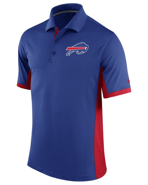 Nike men 39 s buffalo bills team issue polo in blue for men for Buffalo bills polo shirts