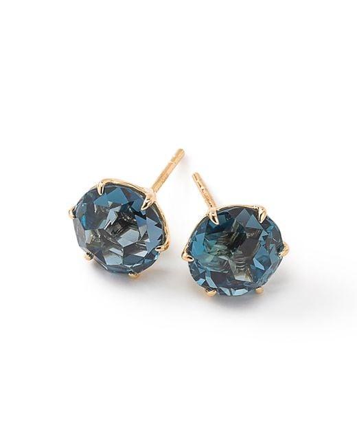 Ippolita   Blue 18k Rock Candy Round Stud Earrings   Lyst