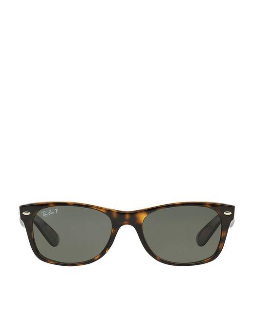 ray ban new wayfarer sunglasses in brown lyst. Black Bedroom Furniture Sets. Home Design Ideas