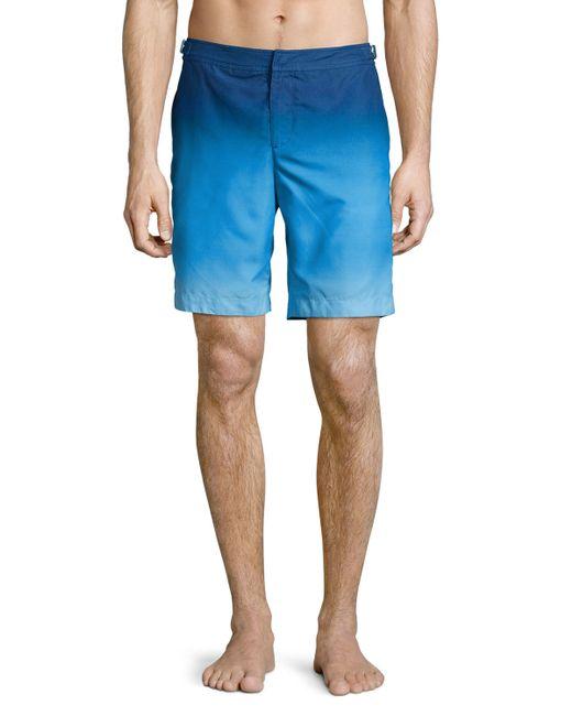 Orlebar brown Dane Ombre Swim Trunks in Blue for Men ...