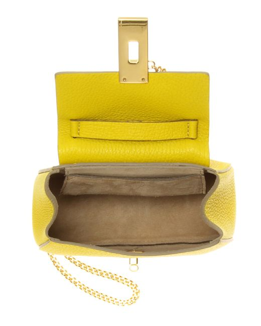 Chlo�� Nano Drew Leather Shoulder Bag in Yellow | Lyst