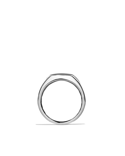 David Yurman | Metallic Streamline Signet Ring for Men | Lyst