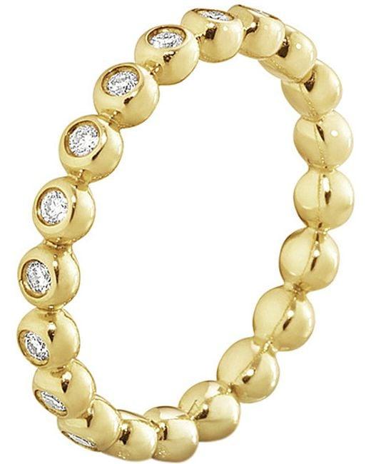 Georg Jensen | Aurora 18ct Yellow-gold And Diamond Ring | Lyst