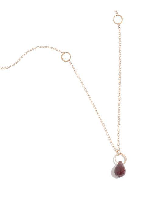 Melissa Joy Manning | Metallic Garnet Drop Necklace | Lyst