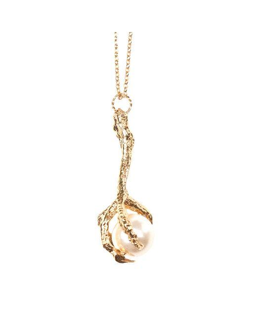 Tessa Metcalfe | Metallic Gold Pigeon Foot Pendant | Lyst