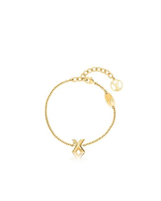 Louis Vuitton | Metallic Lv & Me Bracelet, Letter X | Lyst