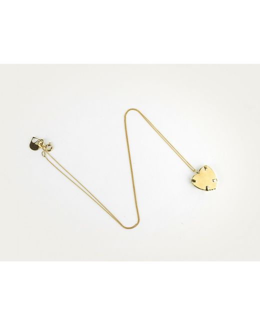 Sabrina Dehoff | Metallic Superfine Necklace With Gold Heart | Lyst