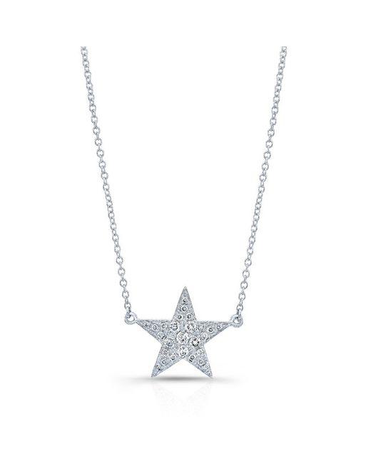 Anne Sisteron - Metallic 14kt White Gold Diamond Star Necklace - Lyst
