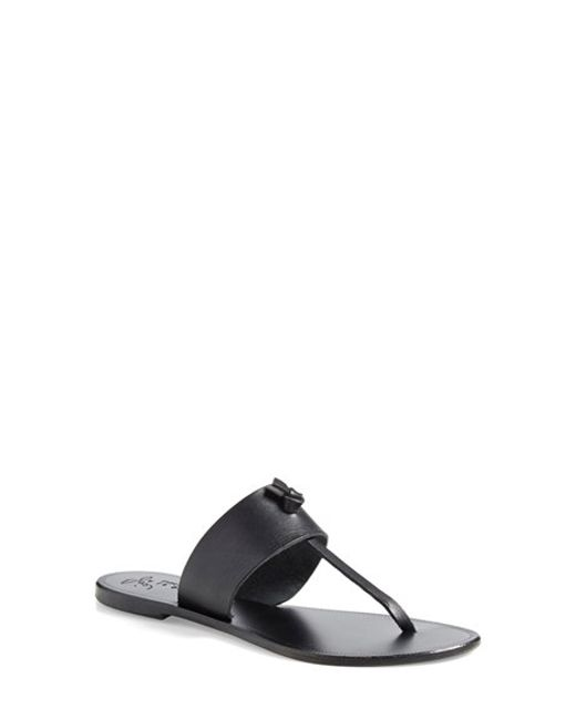 Joie | Black A La Plage 'Nice' Leather Thong Sandal | Lyst