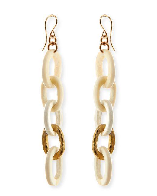 Ashley Pittman   Metallic Mini Mara Light Horn Drop Earrings   Lyst