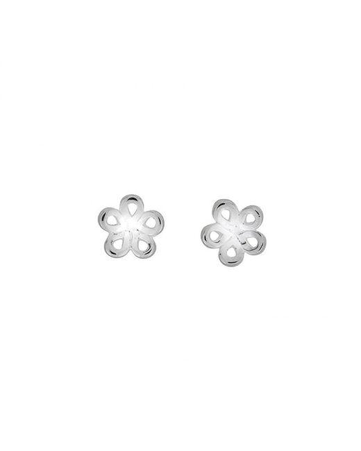 Azendi | Metallic Sterling Silver Knot Stud Earrings | Lyst