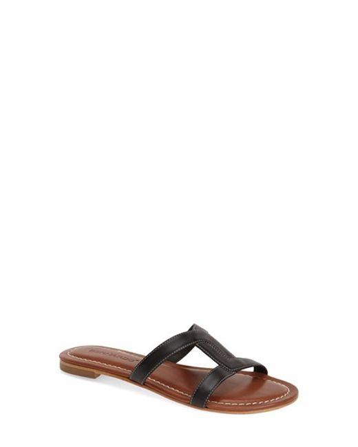 Bernardo | Black Bernardo 'whitney' Slide Sandal | Lyst