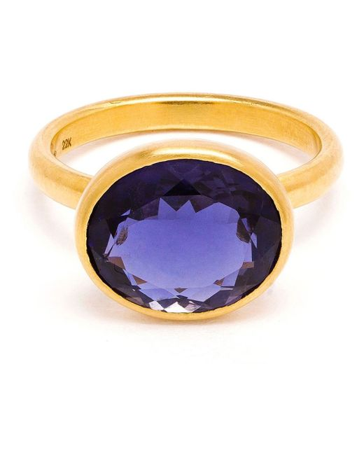 marie h l ne de taillac 22k yellow gold iolite ring in gold pink purple lyst. Black Bedroom Furniture Sets. Home Design Ideas