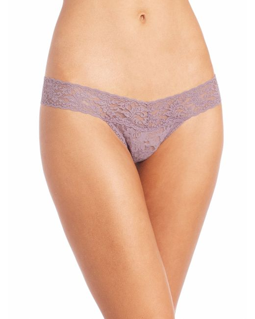 Hanky Panky | Purple Low-rise Lace Thong | Lyst