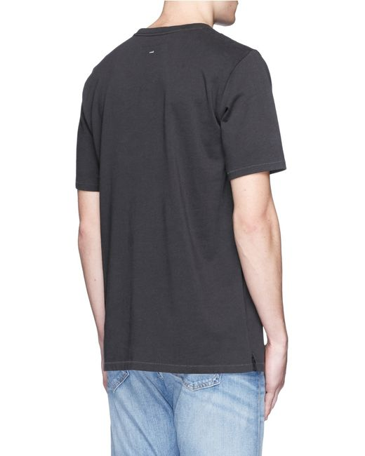 Rag bone heartbreaker embroidery t shirt in black for for Rag and bone mens shirts sale