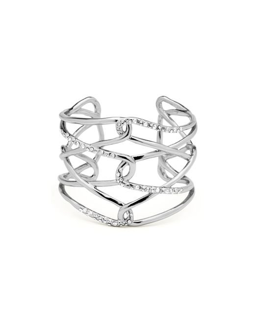 Alexis Bittar | Metallic Miss Havisham Scattered Pave Crystal Barbed Cuff | Lyst