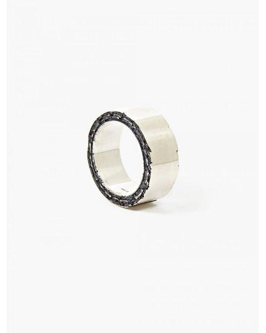 Denis Music | Metallic Silver Membrane Ring for Men | Lyst