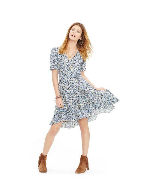 Denim Amp Supply Ralph Lauren Floral Cotton Gauze Wrap Dress