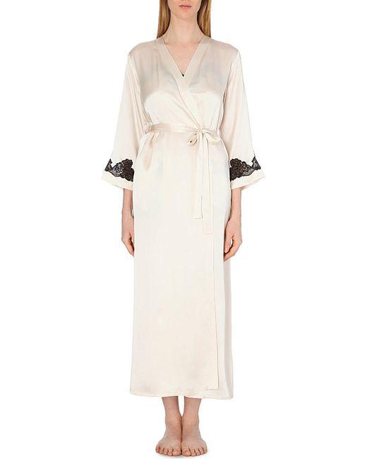 Nk Imode | Metallic Long Silk-satin Robe | Lyst